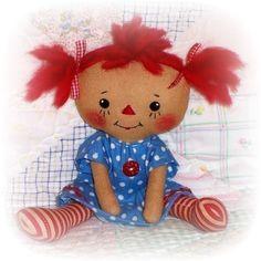 Pequeño patrón de muñeca de trapo pequeña pequeño por OhSewDollin