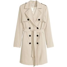 H&M Trenchcoat $34.99 ($35) ❤ liked on Polyvore featuring outerwear, coats, jackets, coats & jackets, h&m, double breasted coat, pink trench coat, lined trench coat, trench coat and pink coat