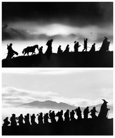 The Hobbit/The Lord of the Ringsd These sillouettes make my eyeballs wet from awesomeness.