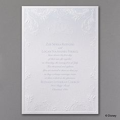 Classic Charm - Cinderella - Invitation -- Perfect for a fairytale wedding theme with its  carriage design and classic style shine.  See this and many more invitation designs available at www.PrintedCreationsWeddingStore.com.  #fairytaleweddinginvitations