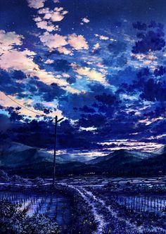 蛍と夏の夕暮れ / Artist: http://www.pixiv.net/member.php?id=810305