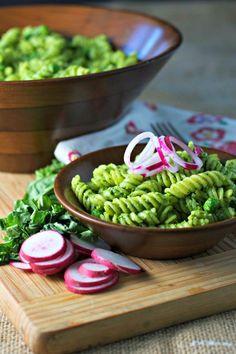 Sorrel Pesto and Pea Pasta ~vegan, gluten free~