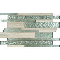 Elida Ceramica Sparkling River Linear Mosaic Glass And