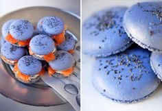 Salmon macarons! http://hipparis.com/2012/03/28/smoked-salmon-macarons-chic-french-nibbles-for-your-next-dinner-party/#more-20021