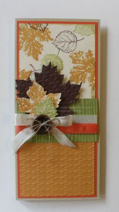 Beautiful Fall Leaf Card...by Rubber Red Neck.   Picture only for inspiration.