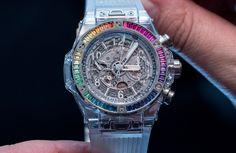 HANDS-ON: And now for something completely different – the Hublot Big Bang Rainbow Sapphire