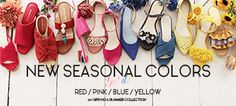 2017ss_colors320 Red And Pink, Blue Yellow, Season Colors, Red Color, Banners, Magazines, Web Design, Japan, Heels