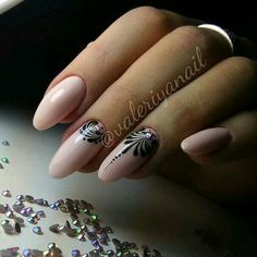 Best Nail Designs - 49 Best Nail Art Designs for 2018 - Best Nail Art Best Nail Art Designs, Colorful Nail Designs, Simple Nail Designs, Oval Nails, Nude Nails, Nail Art Arabesque, Uñas Fashion, Almond Acrylic Nails, Elegant Nails