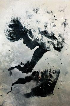 Amazing Grunge Artworks by Alex Cherry.  http://www.designzzz.com/amazing-grunge-artworks-alex/