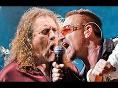 "U2 & Robert Plant - ""Trampled under foot"" live (Led Zeppelin cover) Lond..."