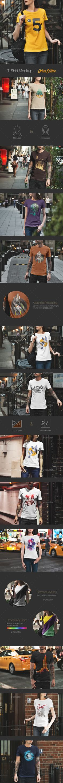 #T-Shirt #Mockup / Urban Edition - T-shirts Apparel Download here: https://graphicriver.net/item/tshirt-mockup-urban-edition/20341284?ref=alena994
