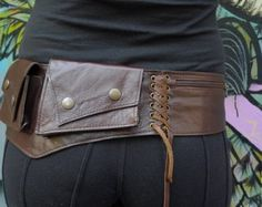 Leather Utility Hip Belt HiPStaR High Quality by offrandes on Etsy