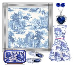 """""""Toile 2"""" by buttercreamkisses ❤ liked on Polyvore featuring Cole & Son, Amanda Rose Collection, Keds, Sweet Romance and Katrin Langer"""