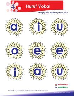 2.petua asas membaca Kindergarten Reading Activities, Preschool Writing, Phonics Activities, Kindergarten Worksheets, First Grade Worksheets, Reading Worksheets, Phonics Words, Learning Letters, Indonesian Language