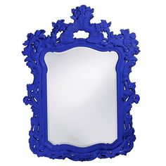 This large rectangular mirror has an ornate frame detailed with a feathery scrolling design that is finished in a glossy khaki lacquer. Khaki Product Features: Collection: Turner Overall Product Dimensions: x x Overall Frame Size: x x Mirror Size: x Gold Frame Wall, Black Wall Mirror, Ornate Mirror, Blue Mirrors, Framed Wall, Mirror Mirror, Cool Ideas, Large Rectangle Mirror, Transitional Wall Mirrors