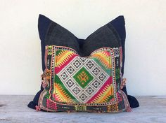 Vintage Ethnic Textile Hand Woven Patch Work Decorative