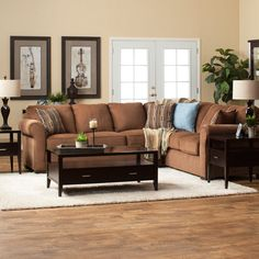 Create a casual living room with the Lola Sectional   Dream's Dream Seating Line by Jerome's Furniture