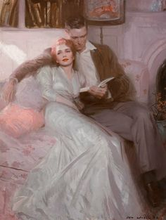 Tom Lovell. Back comes the bride, 1944
