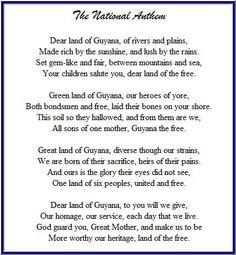 Guyana National Pledge | Guyana National Anthem