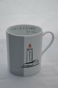 mug à thé ou café , le phare de penfret des glénans