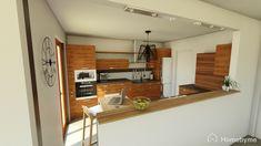 Rénovation cuisine contemporaine bois et gris anthracite Decoration, Kitchen Cabinets, Table, Furniture, Home Decor, Gray, Contemporary, Projects, Decor