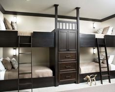 Would Love some built in bunks for the boys room...