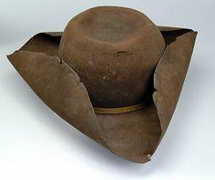 18th Century three-corner hat worn by a field general under Gen. Stark at the Battle of Bennington, VT.
