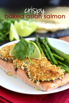 Crispy Baked Asian Salmon is elegant and mouthwatering, and only takes 20 minutes to make! | iowagirleats.com