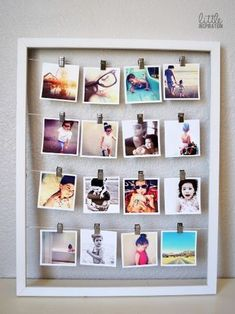 Photo Display - Remember when we printed photos, instead of holding them captive on our smartphones? Return to tradition with a nod to today's techy world by printing Instagram snaps and clipping them up in rows. 7 Chic Ways to Reuse Empty Frames