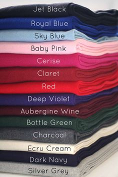 Neotrims Cotton Mix Lycra Type Stretch Knit Rib Fabric to Trim Garments, Waistbands, Cuffs and Welts. Color Combinations For Clothes, Fashion Vocabulary, Fabric Names, Hijab Tutorial, Color Psychology, Colour Pallete, Ribbed Fabric, Cotton Fabric, Color Shades
