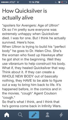 Age of Ultron Quicksilver theory