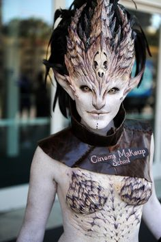 San Diego Comic-Con Make-up für das Kino - Cosplay - Cinema San Diego Comic Con, Costume Makeup, Cosplay Costumes, Sfx Makeup, Fairy Costumes, Scary Makeup, Body Makeup, Alien Make-up, Alien Art