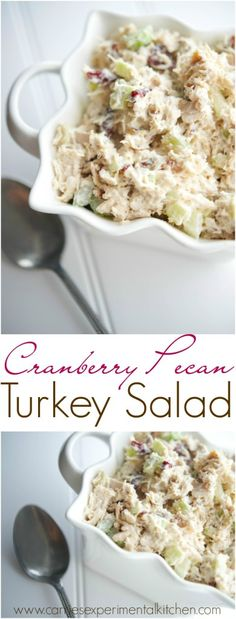Cranberry Pecan Turkey Salad - Turn your leftover Thanksgiving turkey into a new. - Cranberry Pecan Turkey Salad – Turn your leftover Thanksgiving turkey into a new Fall favorite sa - Thanksgiving Leftover Recipes, Leftover Turkey Recipes, Thanksgiving Leftovers, Leftovers Recipes, Turkey Leftovers, Thanksgiving Drinks, Paleo Thanksgiving, Thanksgiving Traditions, Turkey Dishes