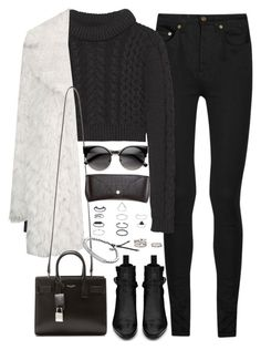 """Untitled#3946"" by fashionnfacts ❤ liked on Polyvore featuring Yves Saint Laurent, TIBI, Topshop, ZeroUV, H&M, Michael Kors and Forever 21"