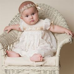 baby blessing dress. Probably couldn't figure out how to replicate, but like the champagne color under the lace.