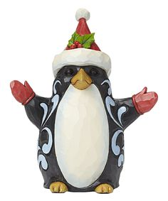 Look what I found on #zulily! Heartwood Creek Loveable Christmas Penguin Figurine by Jim Shore #zulilyfinds