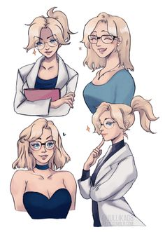 THROWBACK to this post since i noticed… y'all… liked Mercy with glasses…..a lot…winkwonk ✨