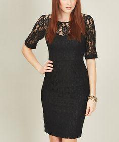 Look what I found on #zulily! Black Gracie Dress by Sugarhill Boutique #zulilyfinds