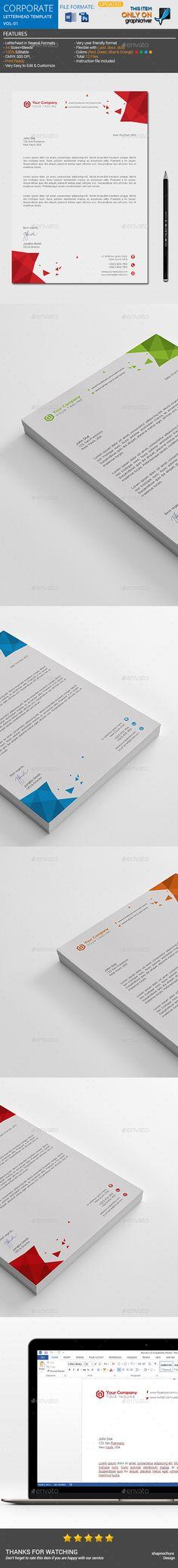 Corporate Creative Letterhead template vol-04 - Stationery Print - corporate letterhead template