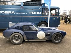 Fiat Bartoletti Cobra Le Mans Transporter and Shelby 289 Le Mans Shelby Daytona, Shelby Car, Shelby Gt500, Mustang Cobra, Ac Cobra, Ford Mustang, Us Cars, Sport Cars, Race Cars