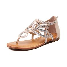 Take a dip into the new Corona Del Mar Sandal from Not Rated! The Corona Del Mar Sandal features rhinestone encrusted synthetic uppers with heel cage and back zipper for easy on-and-off. The lightly padded sole provides cushion and comfort and the textured rubber outsole delivers flexible traction.