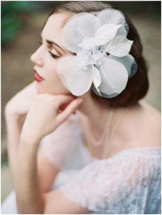floral hairpiece | Laura Gordon Photography
