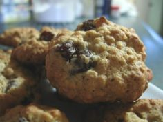 Old Fashioned Oatmeal Cookies. These are the best because the raisins are plumped. Really soft and moist.