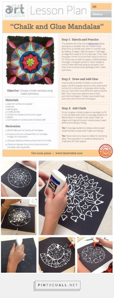 Chalk and Glue Mandalas: Free Lesson Plan Download - The Art of Ed #''Lessonplans''