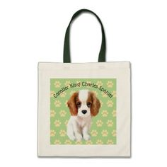 Cavalier King Charles Spaniel Illustrated Tote Bag - accessories accessory gift idea stylish unique custom