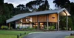HB Architecture, Waitangi Gateway Building, Waitangi Treaty Grounds, Northland, New Zealand Facade Design, Modern House Design, Historical Sites, Centre, Shed, Exterior, Outdoor Structures, Building, Outdoor Decor