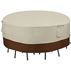 SONGMICS Patio Table and Chair Cover Outdoor Furniture Cover Waterproof Round UGTC72M
