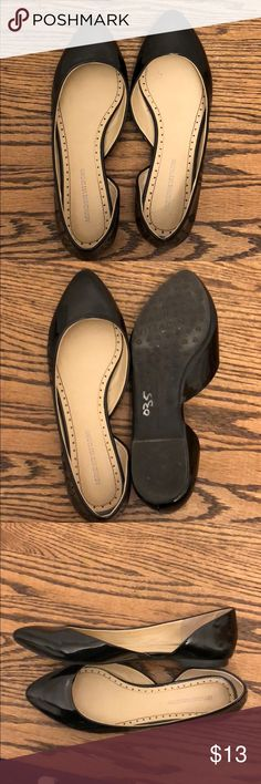 Patent black Adrienne vittadini flats Comfortable flats.  Rarely used.  In great condition. Adrienne Vittadini Shoes Flats & Loafers