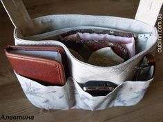 purse or tote bag organizer pattern