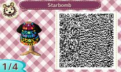 Starbomb ACNL QR code (1/4) by Weejus